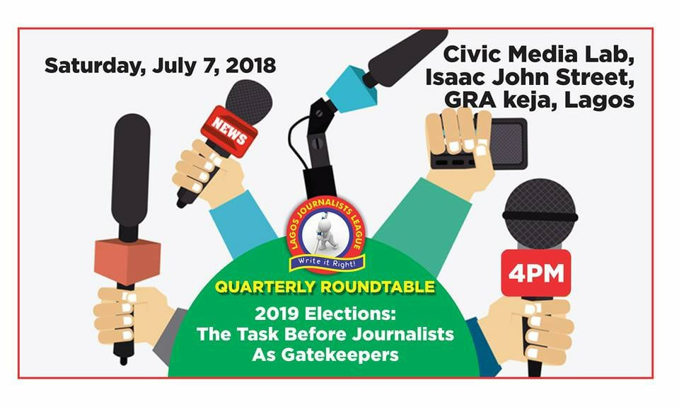 Journalist, LAGOS JOURNALISTS LEAGUE TO SET AGENDA FOR 2019 ELECTIONS