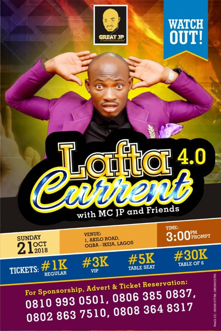 october, 4th edition of Lafta Current with Mc Jp and friends