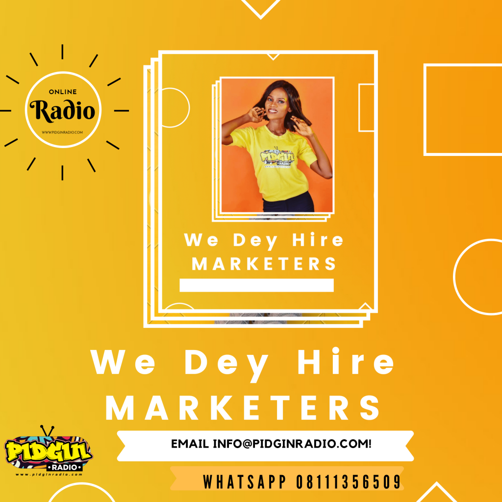 Marketing, Pidgin Radio Marketing Job Application